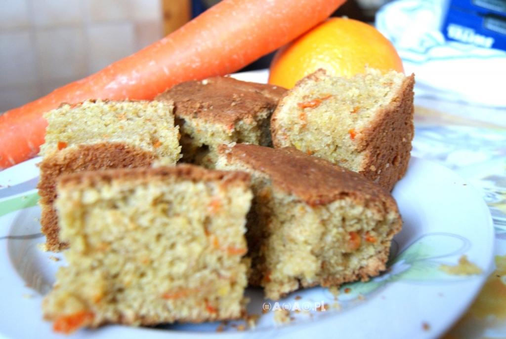 ciasto marchewkowo - pomarańczowe